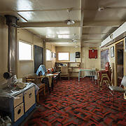 Mess Room. The Hut recently served as something of a small museum, so there are artifacts and displays set up in the side rooms.