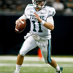 Oct 5, 2013; New Orleans, LA, USA; Tulane Green Wave quarterback Nick Montana (11) against the North Texas Mean Green during the first half at Mercedes-Benz Superdome. Mandatory Credit: Derick E. Hingle-USA TODAY Sports