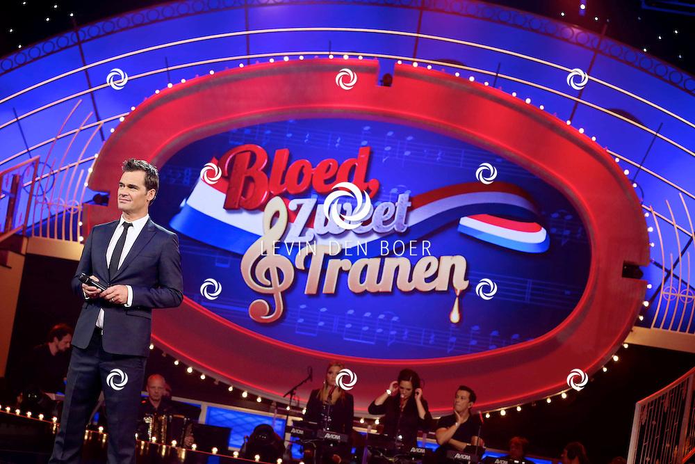 HILVERSUM - In Studio24 is de Finale van Bloed, Zweet en Tranen. Met op de foto  Jeroen van der Boom. FOTO LEVIN DEN BOER - PERSFOTO.NU