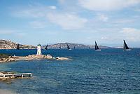 The fleet of the Rolex Maxi Cup 2017, Costa Smeralda, Porto Cervo Yacht Club Costa Smeralda (YCCS).