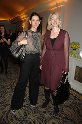 Fashion designer MARIA GRACHVOGEL and EVA AXELSSON LEWIS at the Veuve Clicquot Business Woman Award held at The Berkeley Hotel, London on 8th April 2008.<br />
