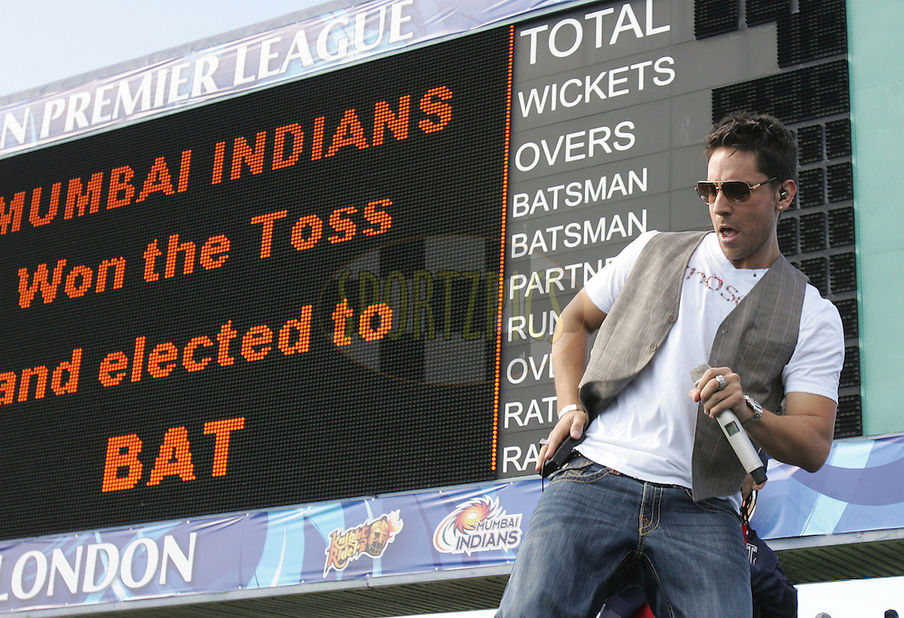 EAST LONDON, SOUTH AFRICA - 1 May 2009. Danny K performs on stage during the  IPL Season 2 match between the Mumbai Indians and the Kolkata Knight Riders held at Buffalo Park in East London. South Africa..