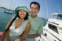 Smiling Couple at Marina