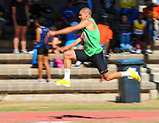 CAPE TOWN, SOUTH AFRICA - Saturday 27 February 2016, Georgi Tsonov of Bulgaria in the mens triple jump (16.38m) during the Western Province Athletics League Track and Field athletic meeting at the Parow Athletics Stadium. <br /> Photo by Roger Sedres/ImageSA