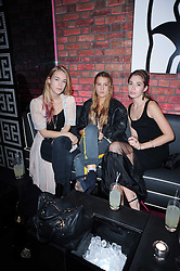 Left to right, MARY CHARTERIS, ANNA HESKETH and ANOUSHKA BECKWITH at the Mulberry Event at Morton's Berkeley Square, London on 3rd November 2010.