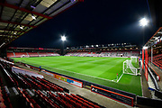 General view inside a floodlit Vitality Stadium before the Premier League match between Bournemouth and Huddersfield Town at the Vitality Stadium, Bournemouth, England on 4 December 2018.