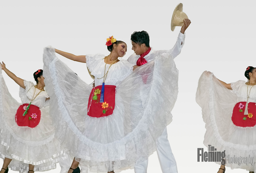 Dancers performing during the  Our Lady of Peace Patron Saint Festival which takes place in January in Bucerias, Nayarit, Mexico.