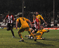 Photo: Tony Oudot/Richard Lane Photography. Brentford v Rochdale. Coca-Cola Football League Two. 01/11/2008. <br /> Dean Bowditch of Brentford works his way through the Rochdale defence