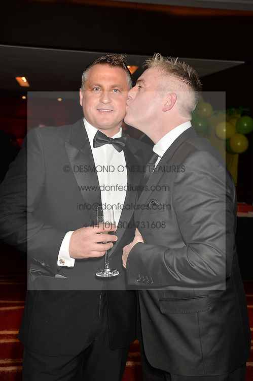 Left to right, DARREN GOUGH and DONAL McINTYRE at the Soldiering On Awards held at the Park Plaza Hotel, Westminster Bridge, London on 5th April 2014.