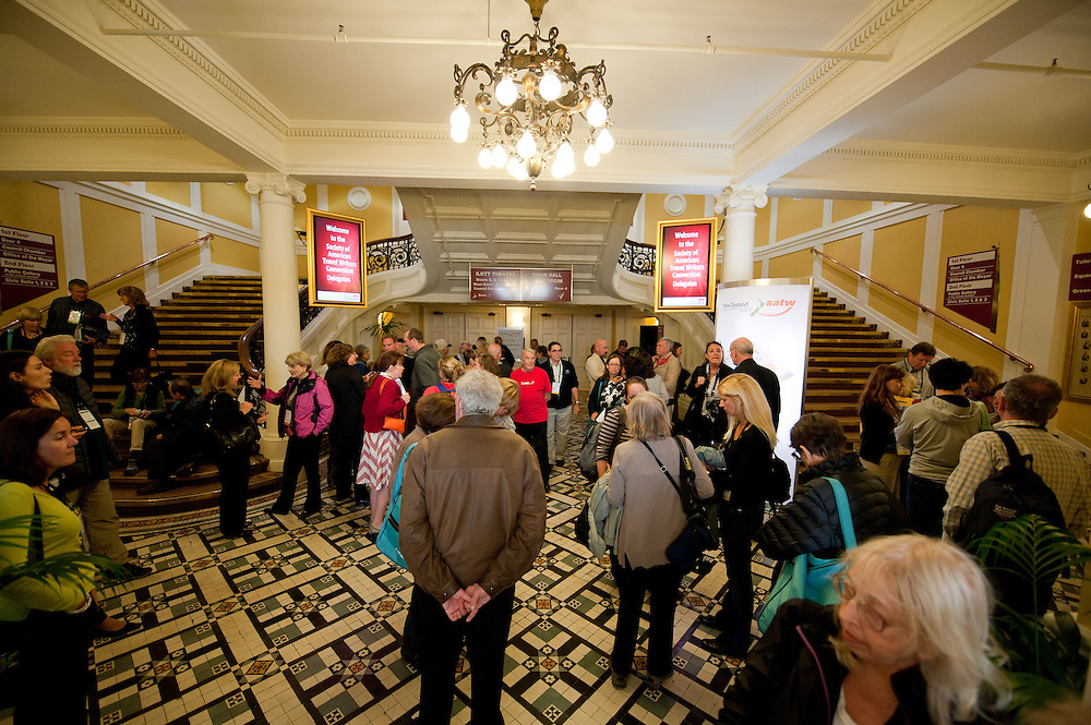Society of American Travel Writers conference, Wellington Town Hall and Michael Fowler Centre. Tuesday November 8, 2011...Photo by Mark Tantrum | www.marktantrum.com