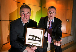Repro Free: 14/11/2013 John Gillooly from Navan Co Meath and Gavin Curran from Malahide founders of Lucky Sods were crowned winners of the AIB Jump Start 2013 at the LINC (Learning and Innovation Centre) at the Institute of Technology Blanchardstown winning a fantastic business package worth &euro;25,000. Pictured Andres Poveda<br /> <br /> For Further info contact Anne-Marie Sheehan Aspire PR - 0872985569 - annmarie@aspire-pr.com