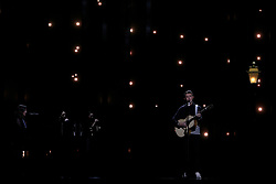 May 7, 2018 - Lisbon, Portugal - Singer Ryan OShaughnessy of Ireland performs during the Dress Rehearsal of the first Semi-Final of the 2018 Eurovision Song Contest, at the Altice Arena in Lisbon, Portugal on May 7, 2018. (Credit Image: © Pedro Fiuza/NurPhoto via ZUMA Press)
