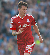 Cardiff City striker Joe Mason during the Sky Bet Championship match between Brighton and Hove Albion and Cardiff City at the American Express Community Stadium, Brighton and Hove, England on 3 October 2015. Photo by Bennett Dean.