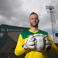 Alan Mannus, St Johnstone FC, pictured at McDiarmid Park...20.04.15<br /> <br /> Picture by Graeme Hart.<br /> Copyright Perthshire Picture Agency<br /> Tel: 01738 623350  Mobile: 07990 594431