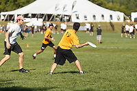 Scenes of players and events at the National Championships for Ultimate in Canada. The games were played at Ultimate Parks Inc (UPI) outside of Ottawa, ON.<br /> <br /> ©2011, Sean Phillips<br /> http://www.RiverwoodPhotography.com