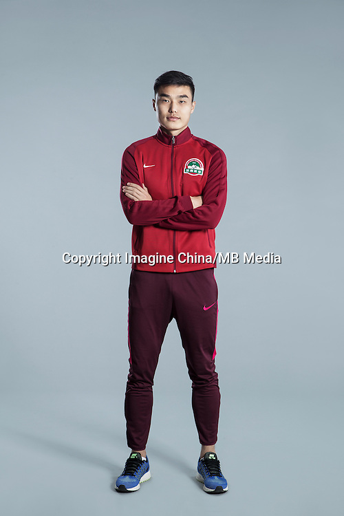 Portrait of Chinese soccer player Luo Heng of Henan Jianye F.C. for the 2017 Chinese Football Association Super League, in Zhengzhou city, central China's Henan province, 19 February 2017.