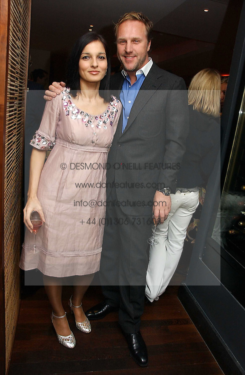 SIMON &amp; YASMIN MILLS at a St.Valentine's dinner hosted by Ruinart champagne at Tom Aikens Restaurant, Elystan Street, London on 6th February 2007.<br />