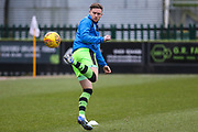 Forest Green Rovers Dayle Grubb(8) warming up during the EFL Sky Bet League 2 match between Forest Green Rovers and Cambridge United at the New Lawn, Forest Green, United Kingdom on 20 January 2018. Photo by Shane Healey.