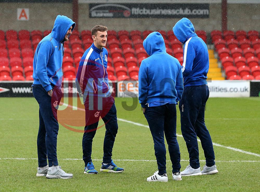 Bristol Rovers players inspect the pitch at Highbury - Mandatory by-line: Robbie Stephenson/JMP - 02/04/2018 - FOOTBALL - Highbury Stadium - Fleetwood, England - Fleetwood Town v Bristol Rovers - Sky Bet League One