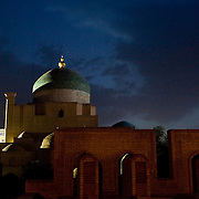 Pahlavon Mahmud mausoleum at night, Khiva