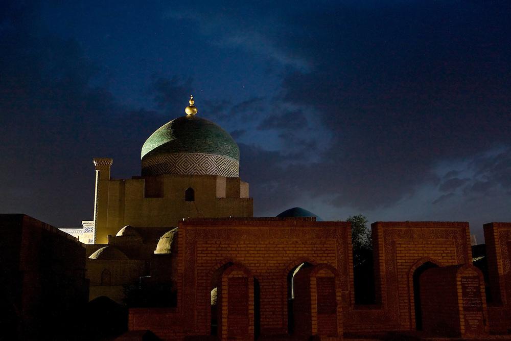 Pahlavon Mahmud mausoleum at night, Khiva