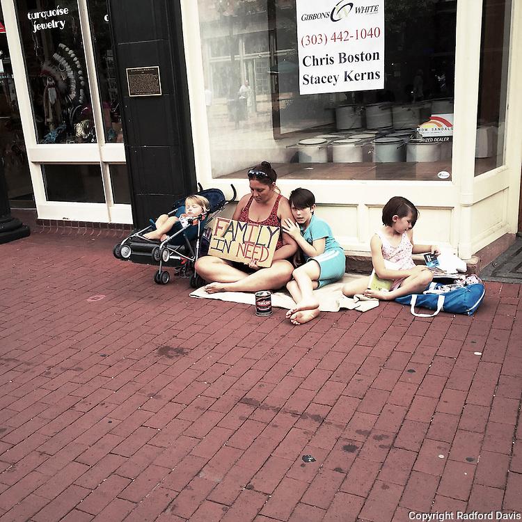 Boulder, Colorado. Family in need.