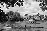 Maidenhead. Berkshire. United Kingdom. General view, as a crew moves up towards the start,  background, Riverside residences  on the course of the 2017 Maidenhead Junior Regatta  River Thames. <br /> <br /> [©Peter SPURRIER/Intersport Images] Sunday. 14.05.2017