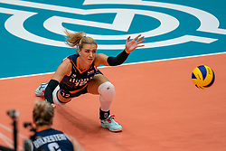 02-08-2019 ITA: FIVB Tokyo Volleyball Qualification 2019 / Belgium - Netherlands, Catania<br /> 1e match pool F in hall Pala Catania between Belgium - Netherlands / Britt Bongaerts #12 of Netherlands