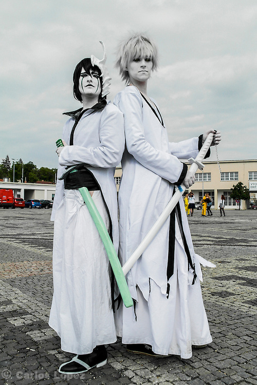 Ulquiorra schiffer from Bleach. Cosplayer at Animefest 2015 in the city of Brno, czech republic.