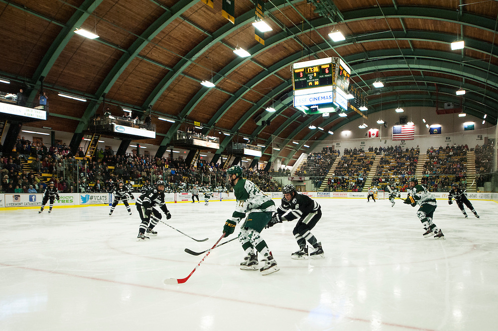 The men'e hockey game between the Providence Friars and the Vermont Catamounts at Gutterson Field House on Saturday night January 16, 2016 in Burlington, Vermont.