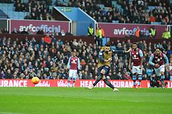 Olivier Giroud of Arsenal scores a penalty - Mandatory byline: Dougie Allward/JMP - 13/12/2015 - Football - Villa Park - Birmingham, England - Aston Villa v Arsenal - Barclays Premier League