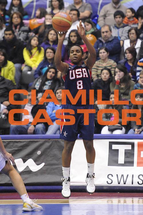 DESCRIZIONE : Chile Cile U19 Women World Championship 2011 Spagna USA Spain<br /> GIOCATORE : Ariel Massengale<br /> SQUADRA : USA<br /> EVENTO : Chile Cile U19 Women World Championship 2011 <br /> GARA : Spagna USA Spain<br /> DATA : 31/07/2011<br /> CATEGORIA : tiro<br /> SPORT : Pallacanestro <br /> AUTORE : Agenzia Ciamillo-Castoria/C.De Massis<br /> Galleria : Fiba U19 World Championship Women Chile 2011<br /> Fotonotizia : Chile Cile U19 Women World Championship 2011 Spagna USA Spain<br /> Predefinita :