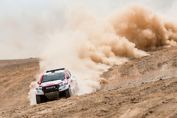 Nasser Al-Attiyah (QAT) of Toyota Gazoo Racing SA races during stage 04 of Rally Dakar 2019 from Arequipa to o Tacna, Peru on January 10, 2019 // Marcelo Maragni/Red Bull Content Pool // AP-1Y39DQXBN2111 // Usage for editorial use only // Please go to www.redbullcontentpool.com for further information. //