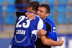 Stjepan Caban (23) of Nafta and Sinisa Jankovic  (10) of Nafta at 12th Round of PrvaLiga Telekom Slovenije between NK Primorje vs NK Nafta Lendava, on October 5, 2008, in Town stadium in Ajdovscina. Nafta won the match 2:1. (Photo by Vid Ponikvar / Sportal Images)