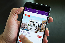 Luxury London home for sale on Zoopla online property search app on iPhone 6 plus smart phone