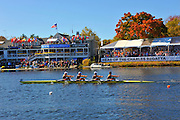 Cambridge. MA. USA. General view from the Boston Side if the river at the Cambridge Boathouse and the Directors hospitality enclosure, during the 49th edition of the Head of the Charles. went on to win their event.<br /> <br /> <br /> 13:18:49  Sunday  20/10/2013   <br /> <br /> [Mandatory Credit. Credit. Karon Phillips /Intersport Images]