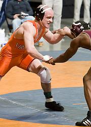 Ross Gitomer of the University of Virginia wrestles Kevin Hall of Apprentice.  The 2008 Virginia Intercollegiate Wresting Championships were hosted by the University of Virginia at the John Paul Jones Arena in Charlottesville, VA on January 5, 2008.