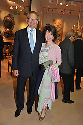 MR ROBERT & the HON.WALEY COHEN at a preview evening of the annual London LAPADA (The Association of Art & Antiques Dealers) antiques Fair held in Berkeley Square, London on 18th September 2012.