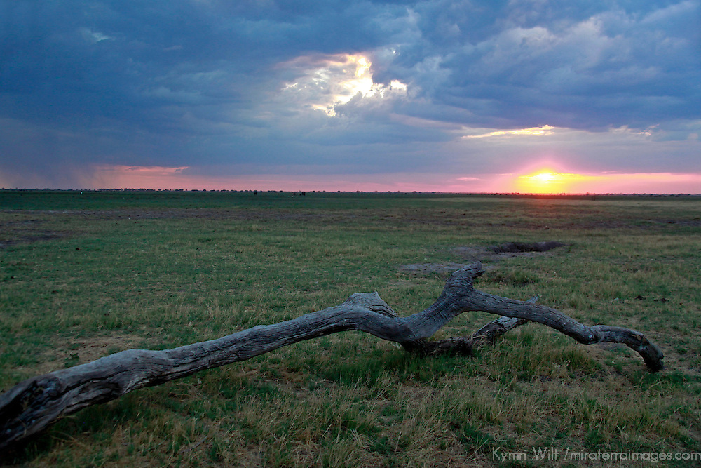 Africa, Botswana, Savute. Sunset at Savute.