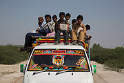 Students travel from as far as 60 kilometers to get to Government High School Bhakuo in Tharparkar.