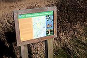 Information sign Hollesley Marshes nature reserve, Hollesley, Suffolk