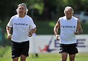 Arta Terme (UD), 27/07/2011.Campionato di calcio Serie A 2011/2012.Andrea Carnevale e il DS Fabrizio Larini..© foto di Simone Ferraro
