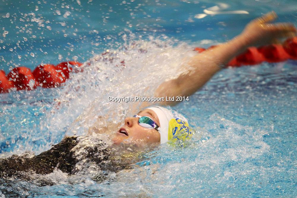 Caroline Baddock, Womens 200m IM, State NZ Swimming Championships, Day 1, West Wave centre, Henderson, Auckland. 8 April 2014. Photo: William Booth/www.photosport.co.nz