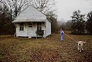Walking the dog. Blythewood, South Carolina. (Photo by Robert Falcetti)