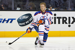 Dec 17, 2011; San Jose, CA, USA; Edmonton Oilers right wing Ales Hemsky (83) warms up before the game against the San Jose Sharks at HP Pavilion.  San Jose defeated Edmonton 3-2. Mandatory Credit: Jason O. Watson-US PRESSWIRE