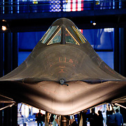 The SR-71 Blackbird spy plane on display at the Smithsonian Air and Space Museum (Stephen F. Udvar-Hazy Center) in Chantilly, Virginia