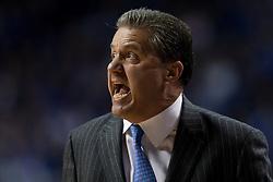 Kentucky head coach John Calipari. The University of Kentucky hosted Ole Miss, Saturday, Jan. 02, 2016 at Rupp Arena in Lexington.