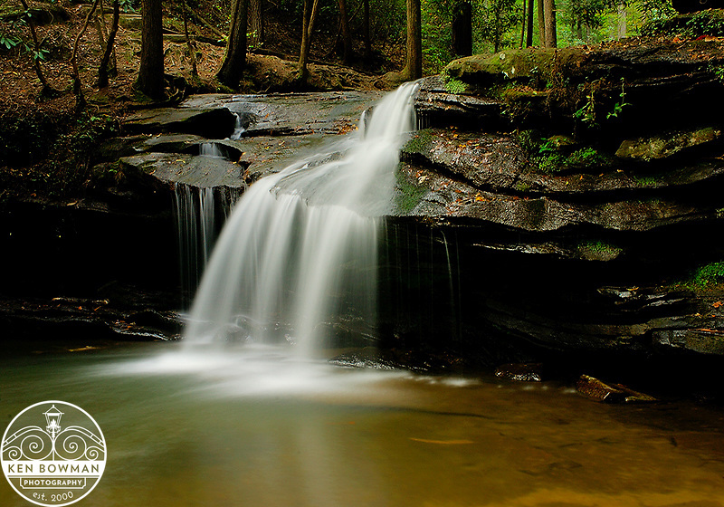 Currick Creek Waterfalls in Table Rock State Park.