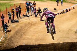 Tahnee Seagrave of Great Britain during Mercedes-Benz UCI Mountain Bike World Cup competition final day in Bike Park Pohorje, Maribor on 28th of April, 2019, Slovenia.  . Photo by Grega Valancic / Sportida