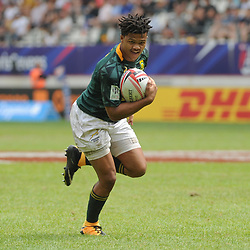 Dewald Human of South Africa during the Semi Final match between New Zealand and South Africa at the HSBC Paris Sevens, stage of the Rugby Sevens World Series at Stade Jean Bouin on June 10, 2018 in Paris, France. (Photo by Sandra Ruhaut/Icon Sport)
